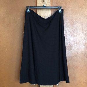 Larry Levine everyday black lined skirt
